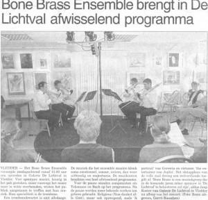 BoneBrass in de Lichtval te Vledder bij Jaap en Joke Koster
