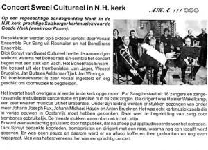 Sweel Cultureel met Pur Sang en BoneBrass o.l.v. Reinier Wakelkamp