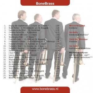 BoneBrass cd Einzug der posaunen, achterkant