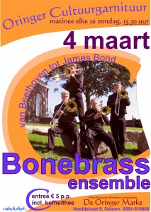 Bonebrass in de Oringer Cultuurgarnituur in Odoorn