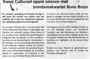 Sweel Cultureel met BoneBrass