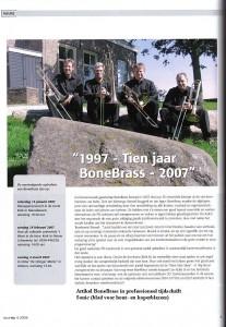 Tien jaar BoneBrass, artikel in Sonic